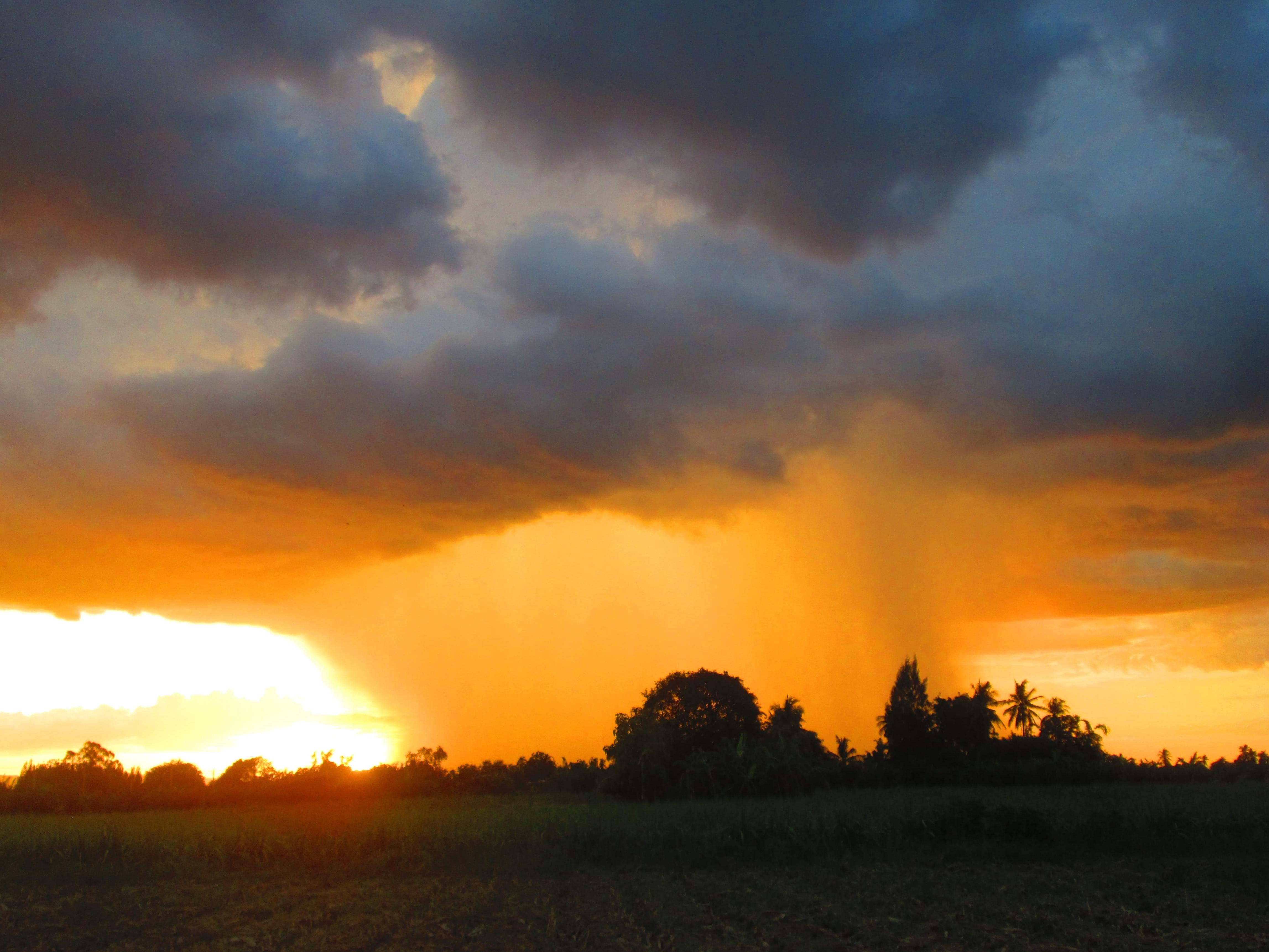 storm over desert