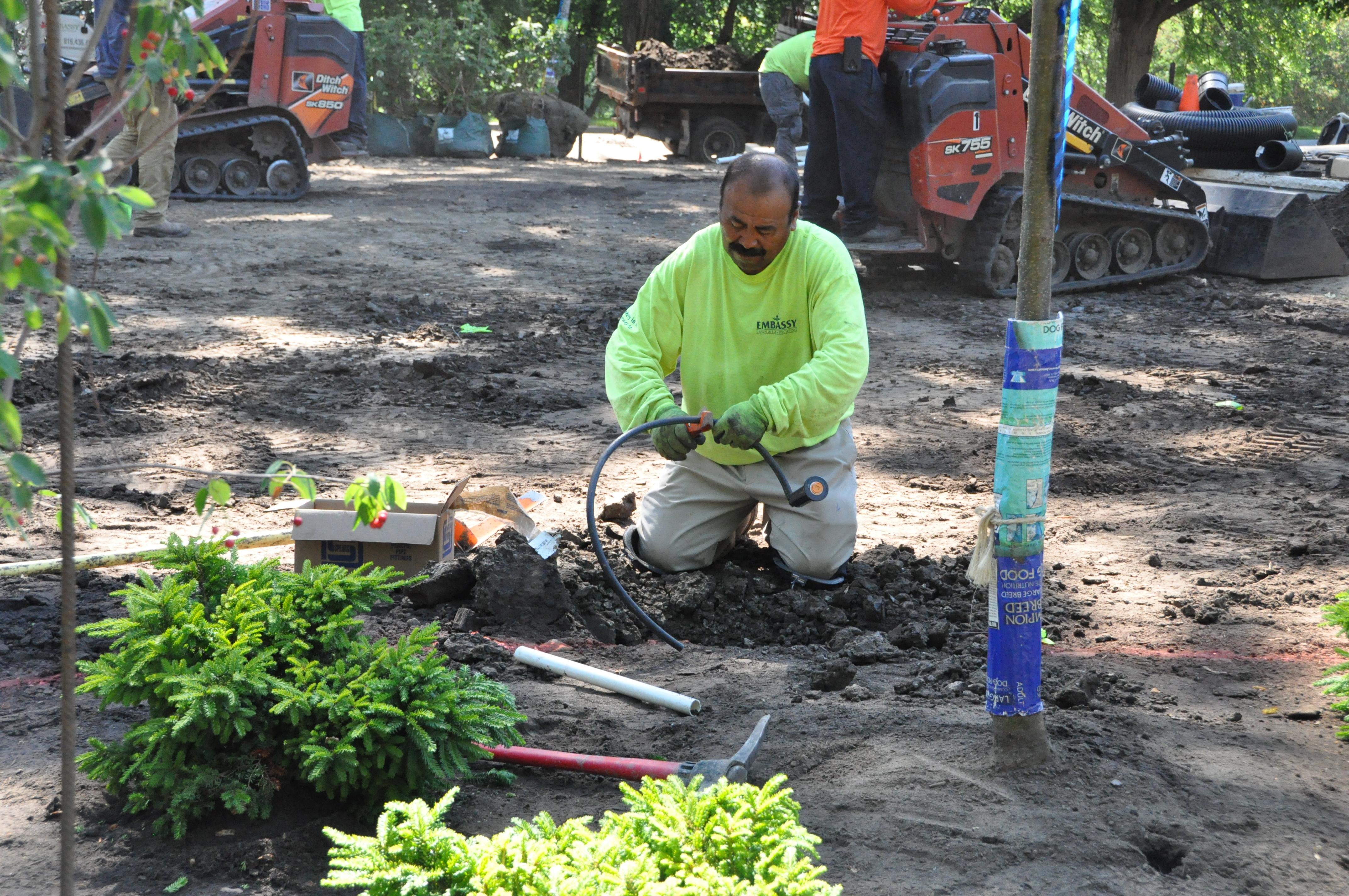 Embassy irrigation crew
