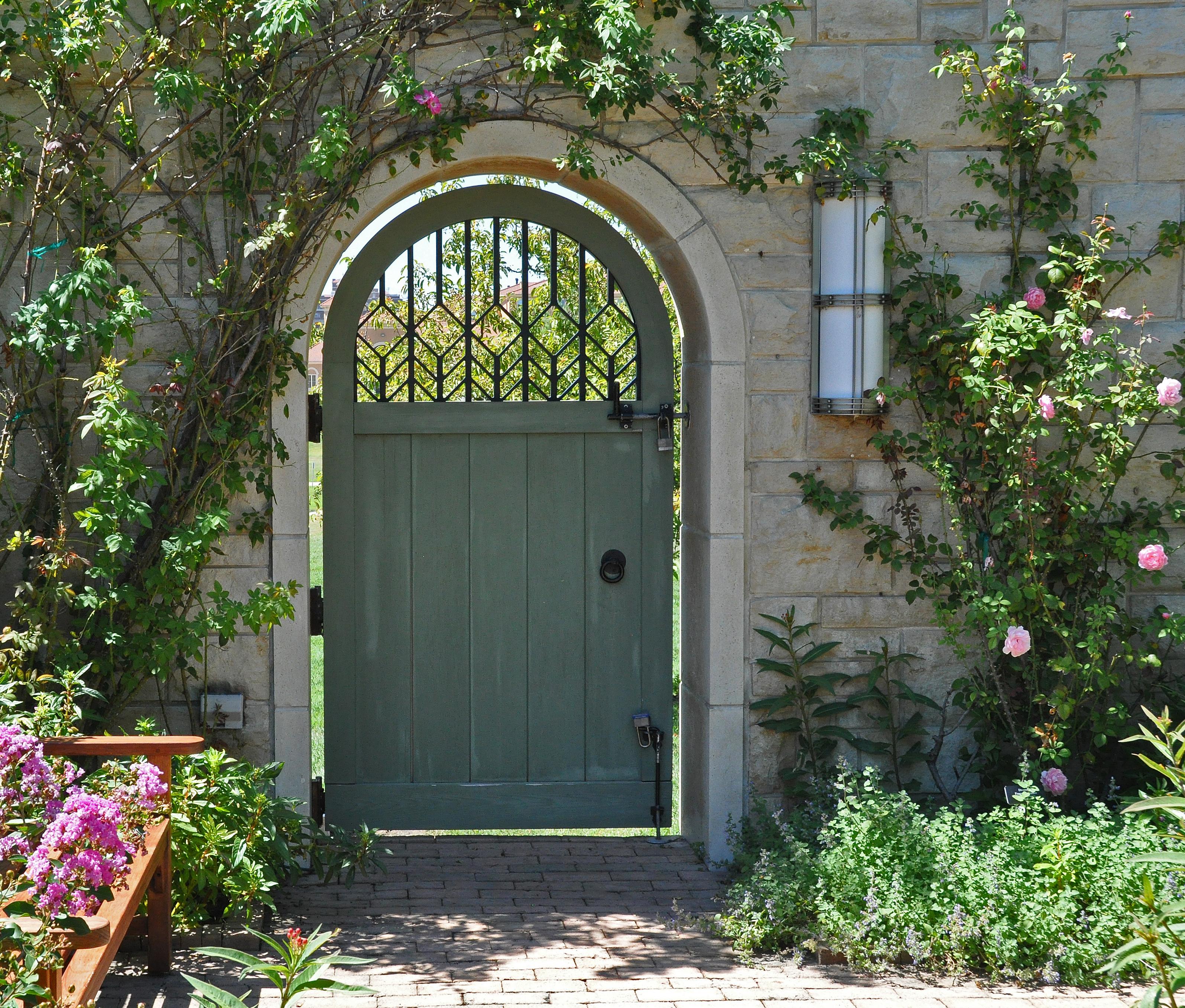 hidden garden gate