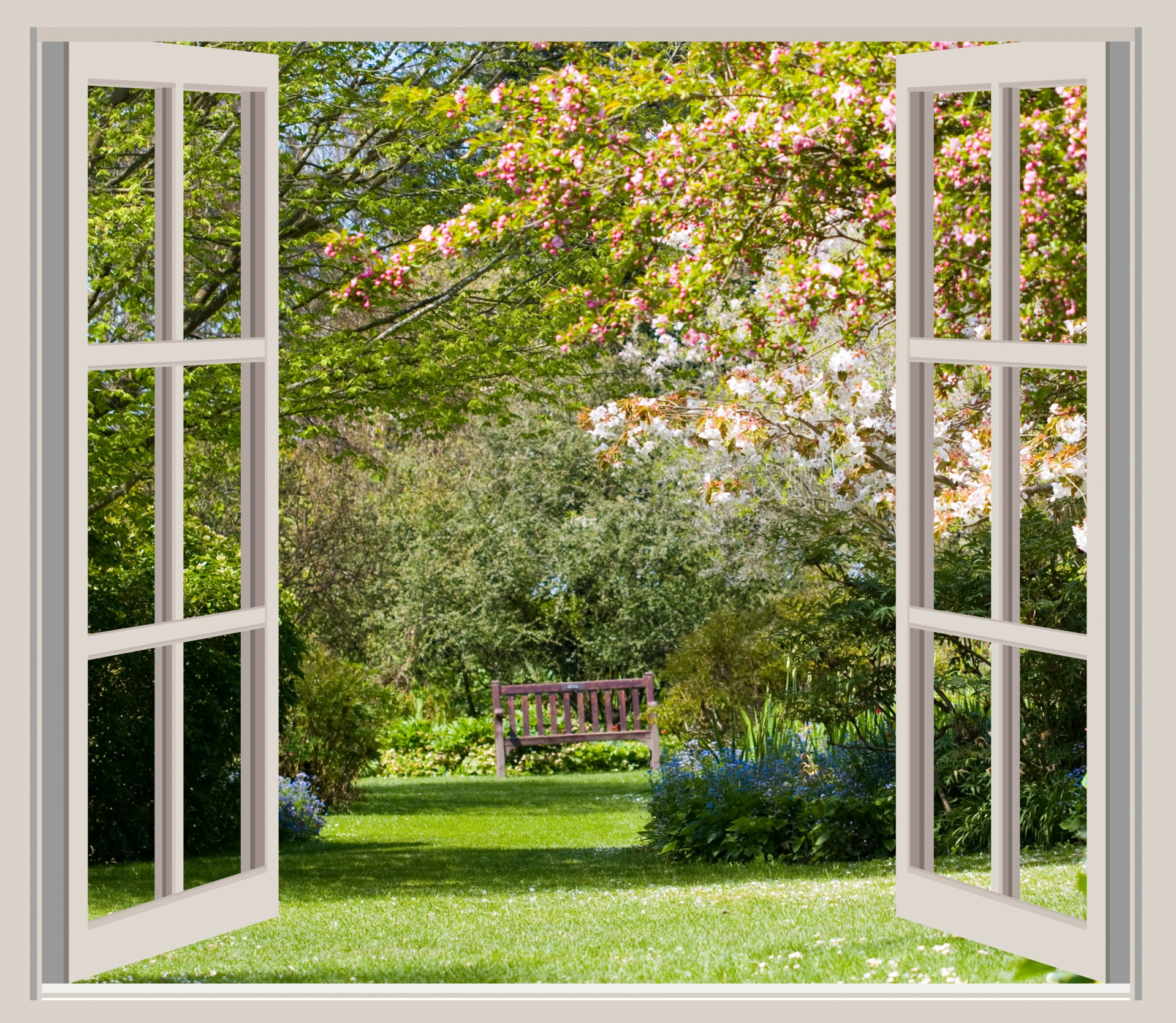 window with garden view