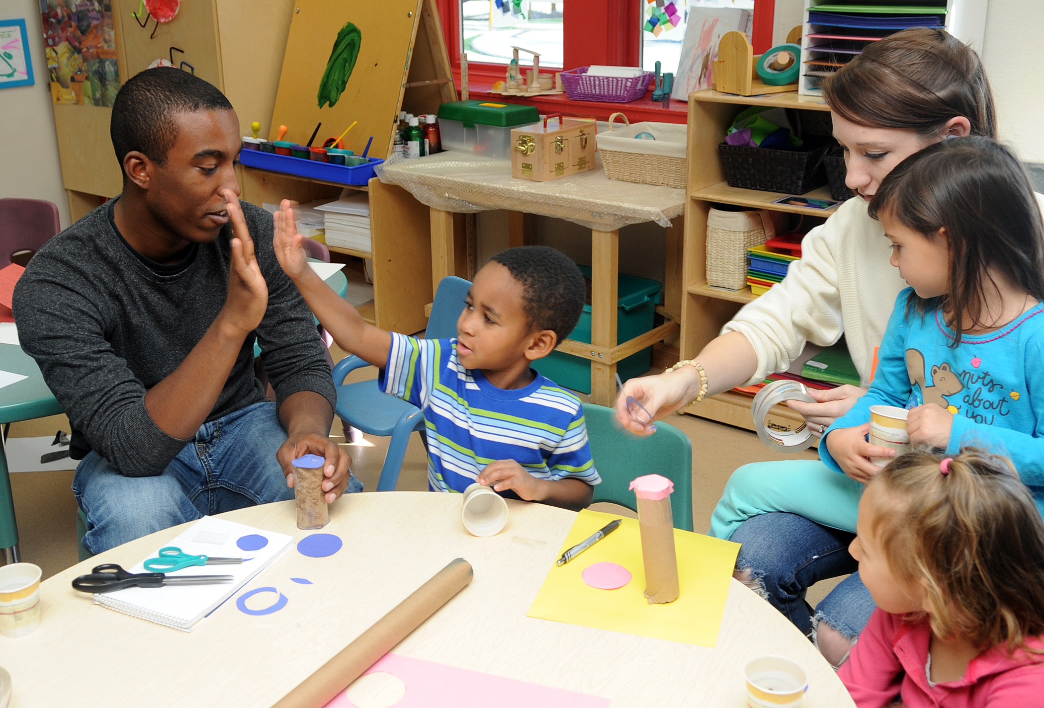 Children with healthy self-esteem are willing to try new tasks.