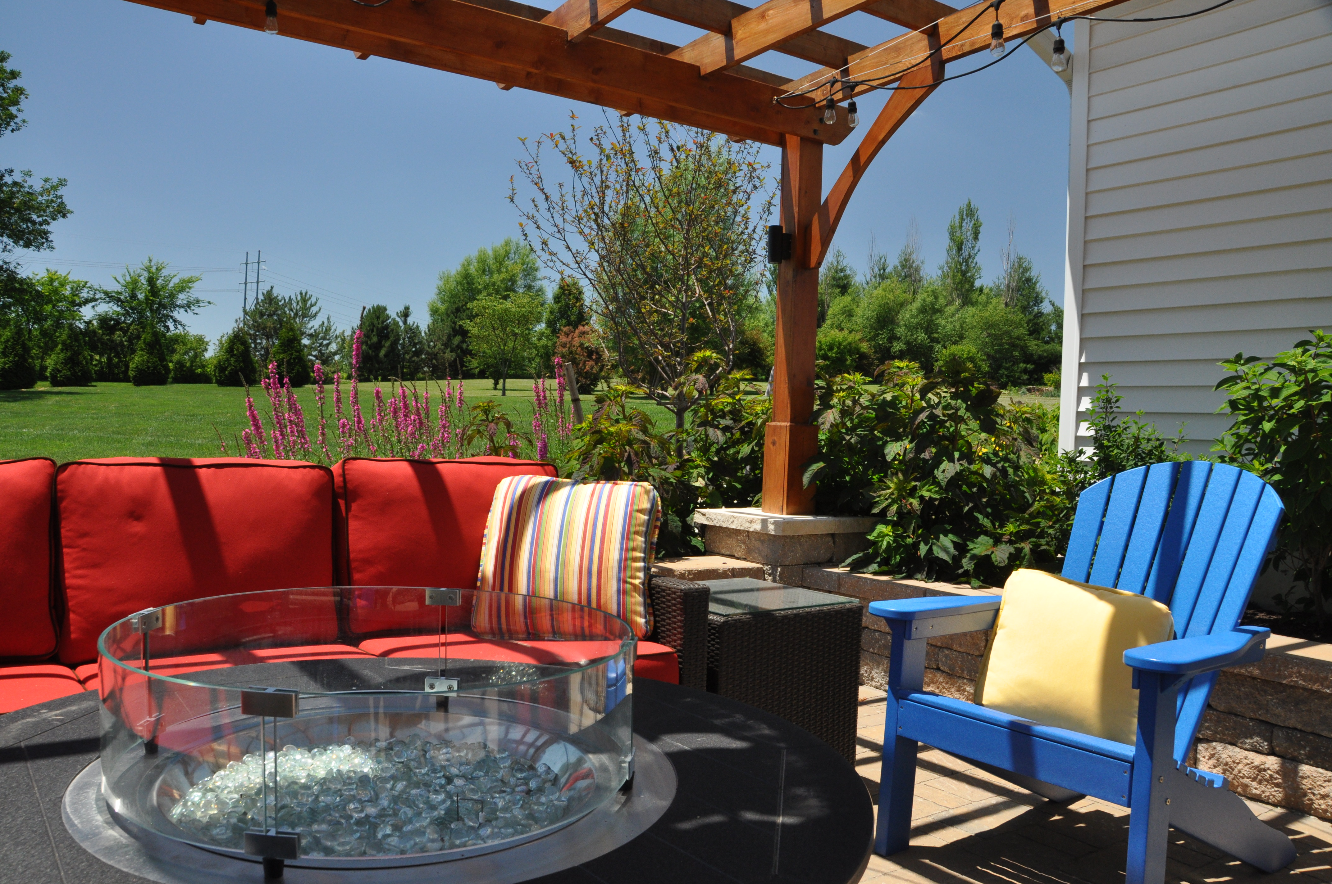 Fire pits set tthe stage for outdoor entertaining in any season.