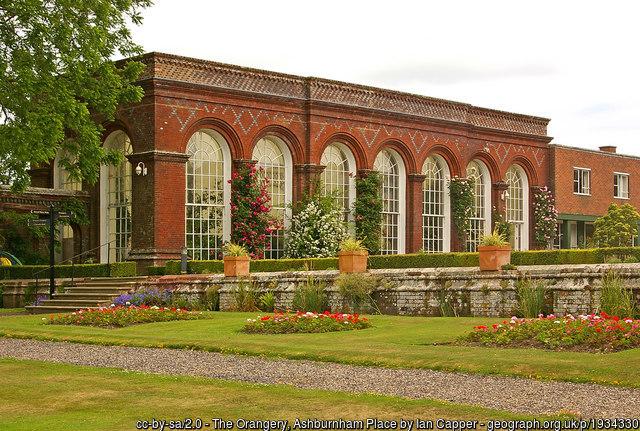 The orangery at Ashburnham.