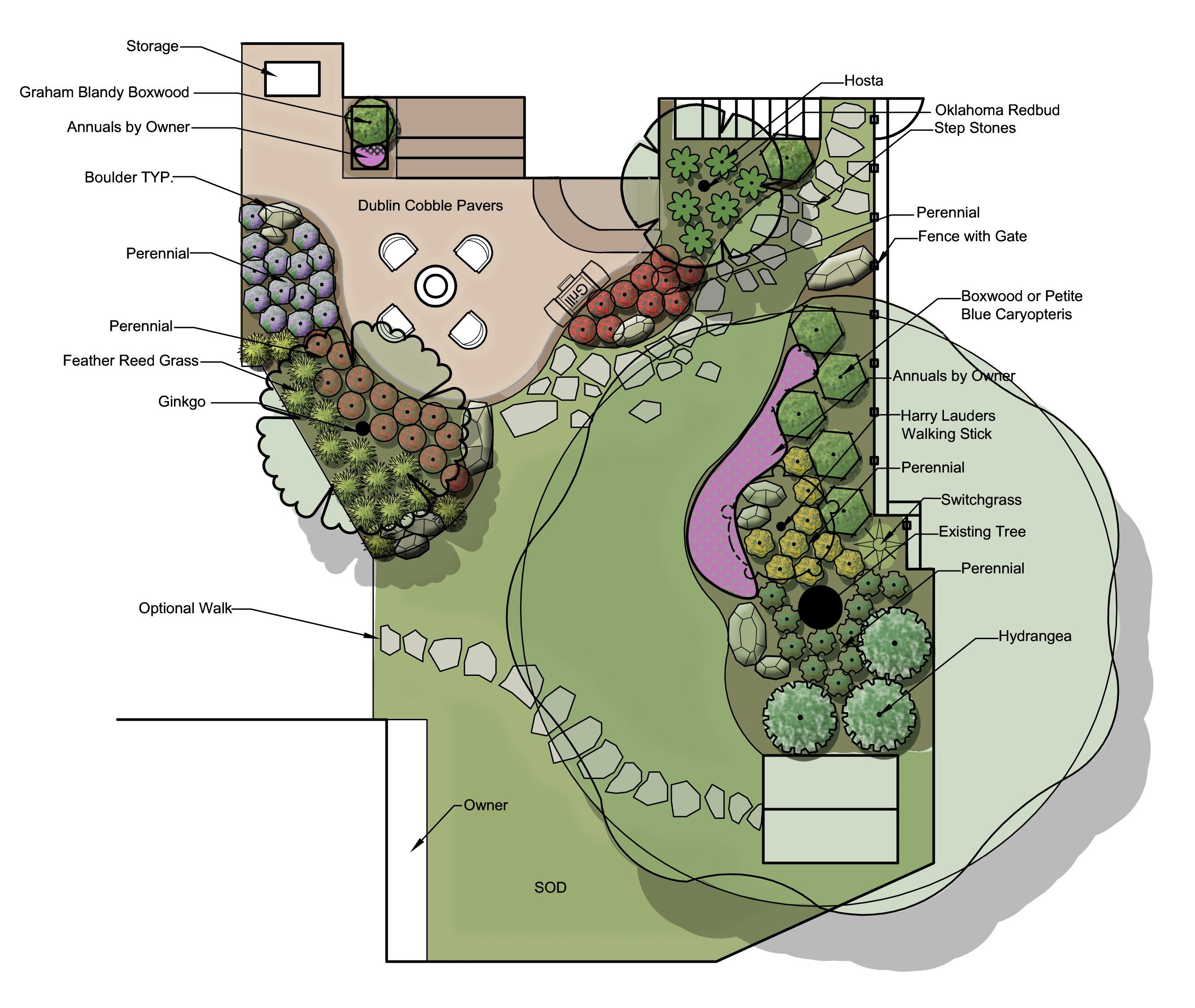 Backyard design by Embassy Landscape Group.
